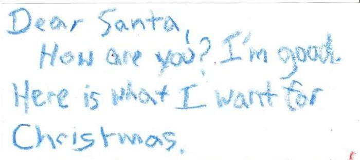 A Letter to Santa (5 pics)