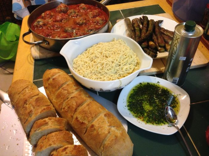Homemade Italian Dinner (10 pics)
