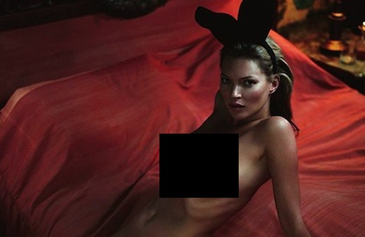 Kate Moss' 'Playboy' 60th Anniversary (10 pics)