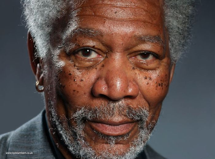 Morgan Freeman iPad Drawing (7 pics + video)