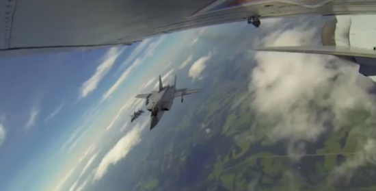 Flying Russian Jet Fighter MiG-31