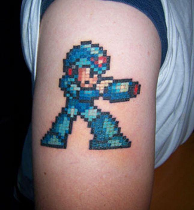 Pixel Art Tattoos (31 pics)