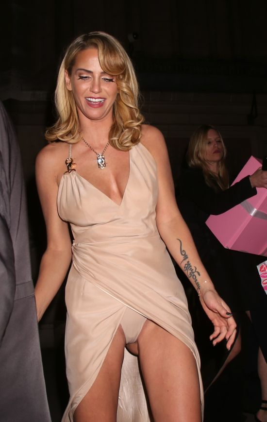 Sarah Harding Flashes Panties (7 pics)