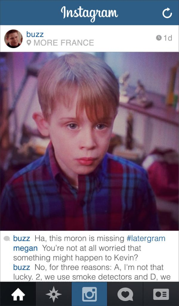 "If Buzz From ""Home Alone"" Had Instagram (9 pics)"