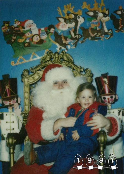Annual Santa Photo, 1980-2013 (34 pics)