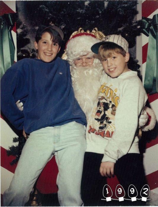 Annual Santa Photo, 1980-2013 (34 pics)