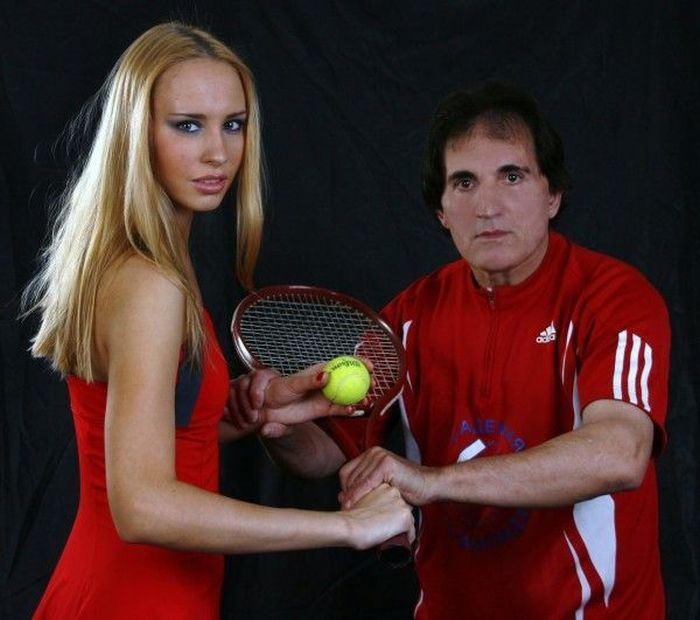 Russian Tennis Coach Who Only Trains Beautiful Women (30 pics)