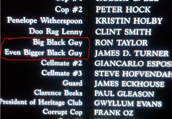 Funny Moments in Movie Credits (23 pics)