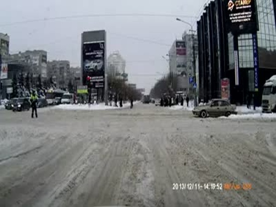 Meanwhile on the Snowy Russian Road