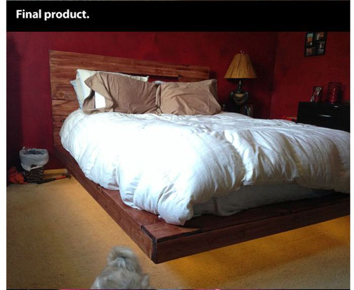 DIY Levitating Bed (14 pics)