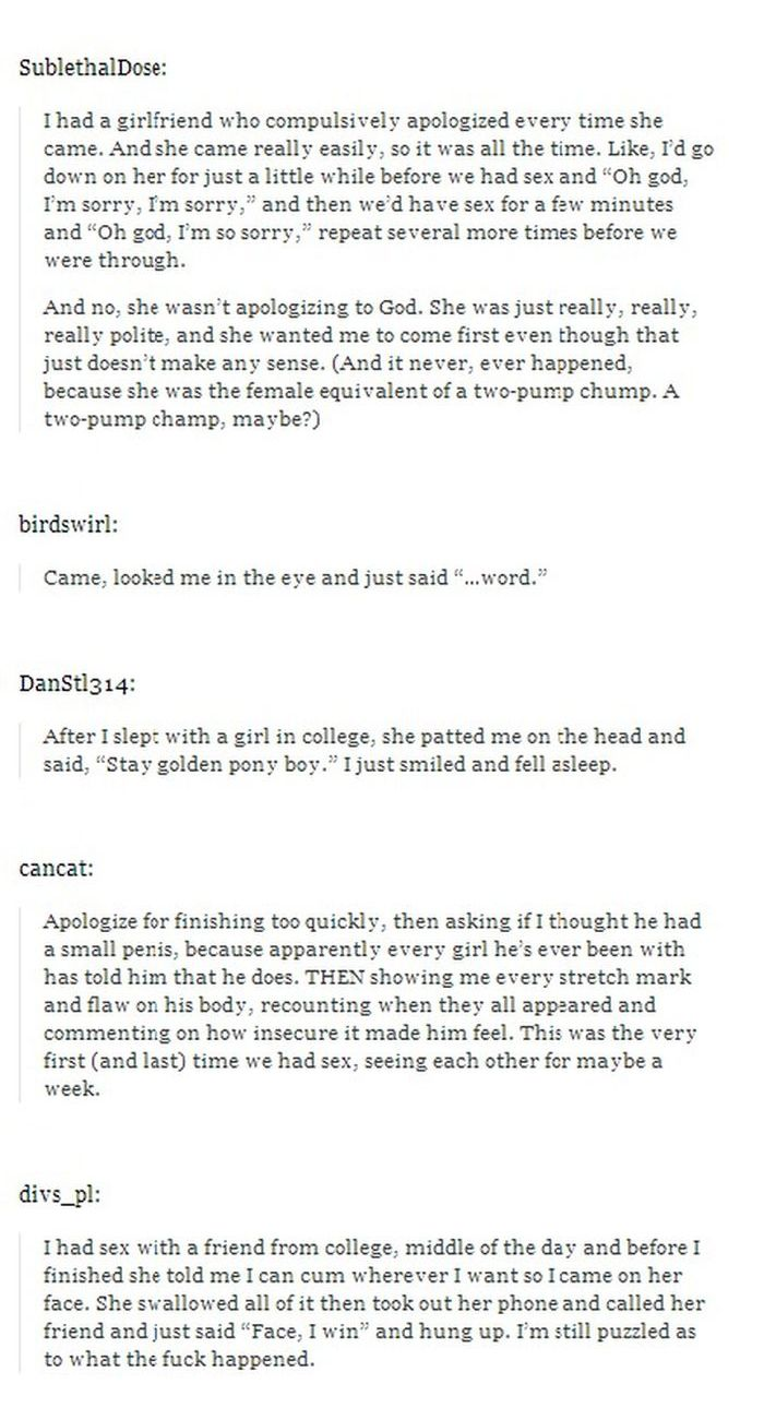 50 Awkward Sexual Experiences (17 pics)