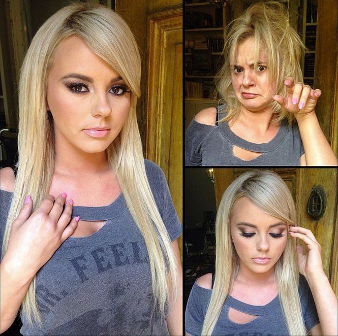 Porn Stars Without Makeup. Part 2 (53 pics)