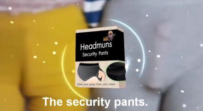 Headmuns Security Pants (3 pics + video)