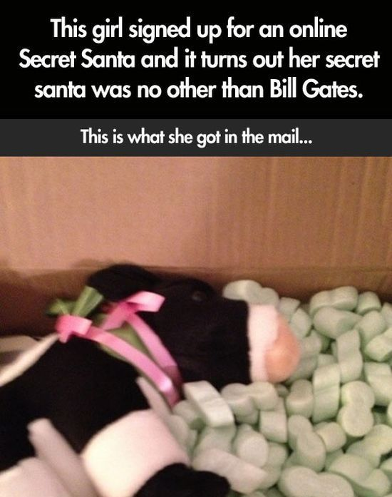 When Your Secret Santa Is Bill Gates (6 pics)