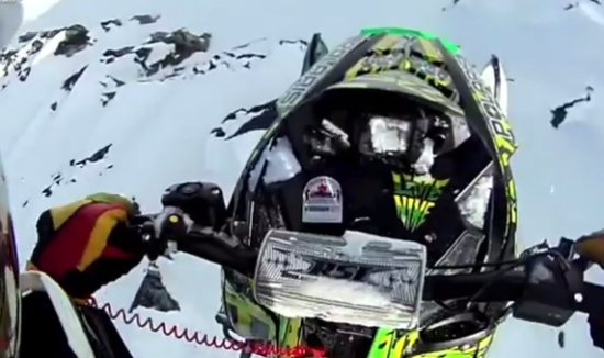 Incredible Snowmobile Jump