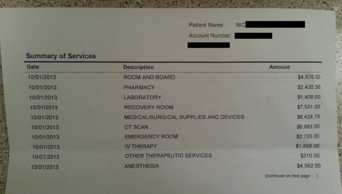 How Much It Costs to Treat an Appendicitis in America (3 pics)