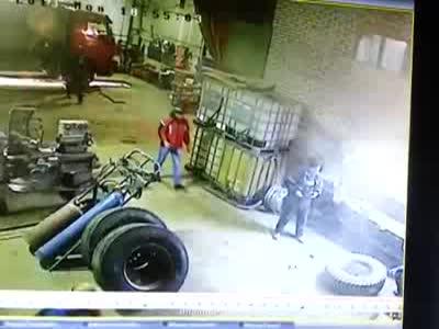 Massive Tire Explosion