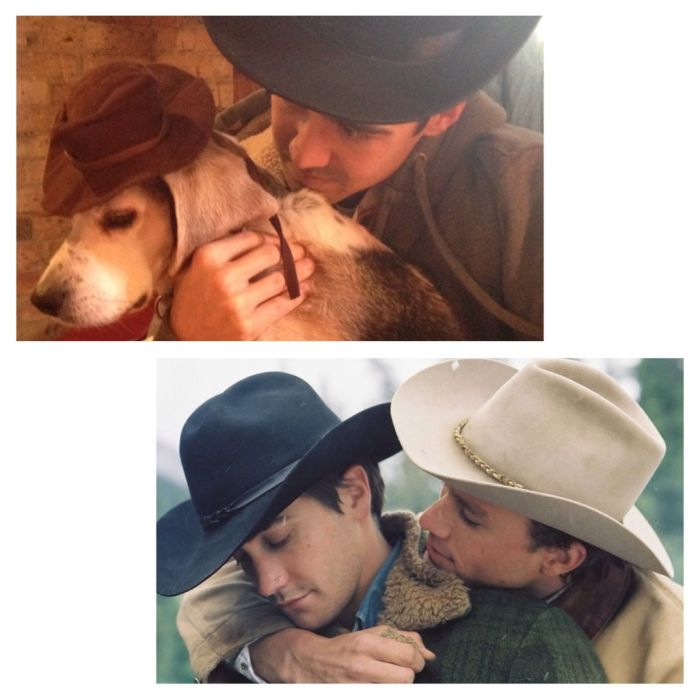 Reenacting Famous Movie Scenes With a Dog (12 pics)
