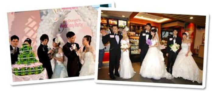 Weddings at McDonald's (24 pics)