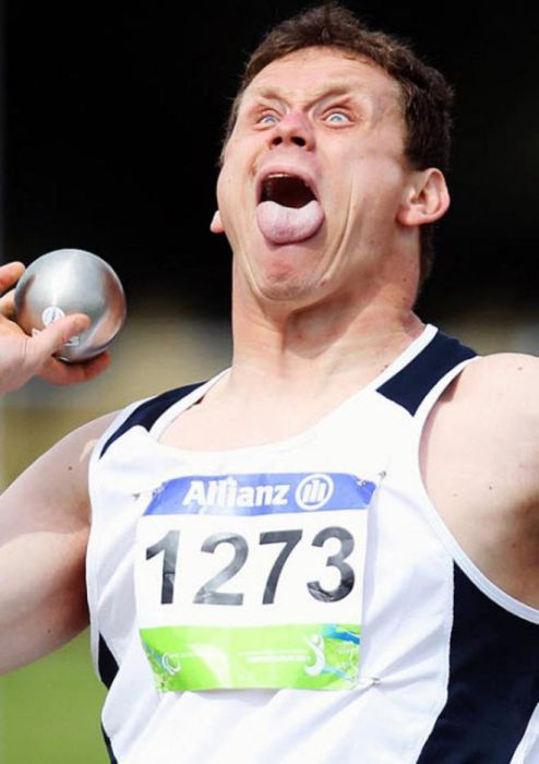 Shot Put Faces (16 pics)
