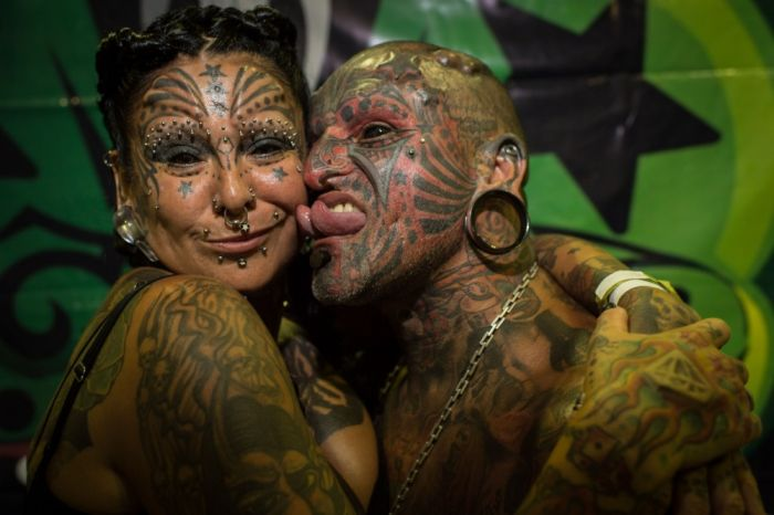 The Most Tattooed and Modified Couple (15 pics)