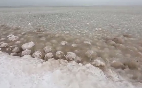 Lake Michigan Looks Like an Ocean of Ice Balls
