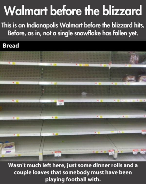 Walmart Before the Blizzard (8 pics)