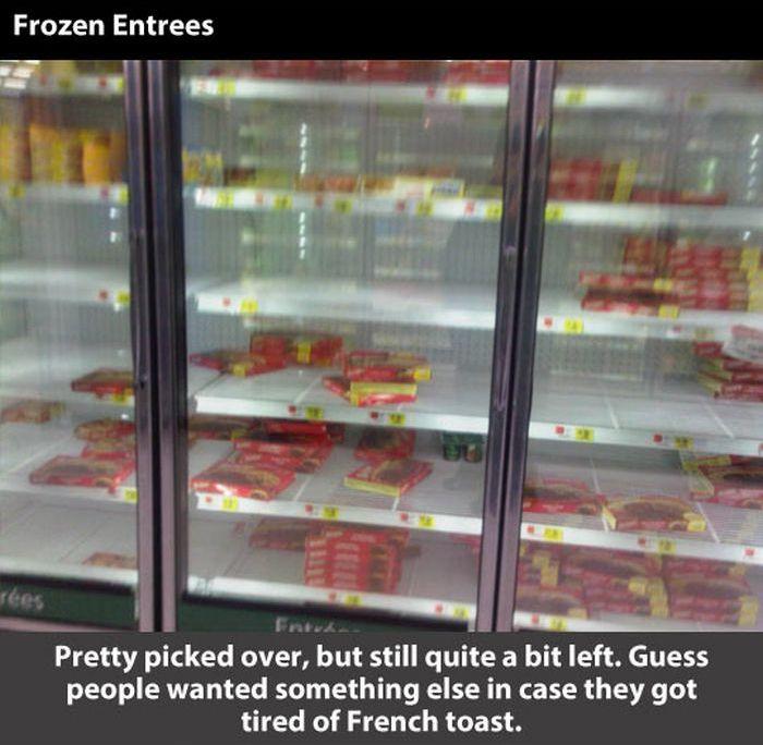 Walmart Before the Blizzard (8 pics)