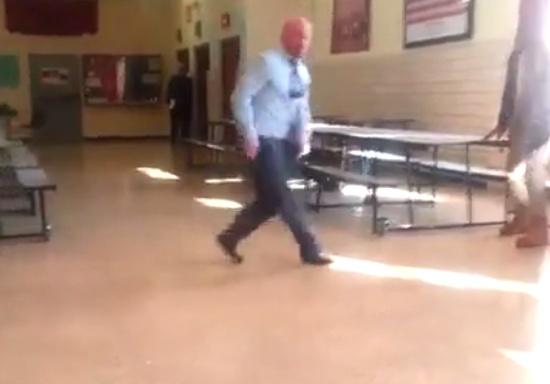 School Teacher Shows Dancing Skills