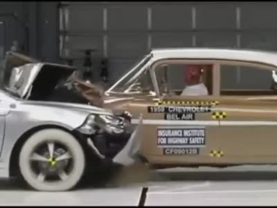 Old Chevy vs New Chevy Crash Test