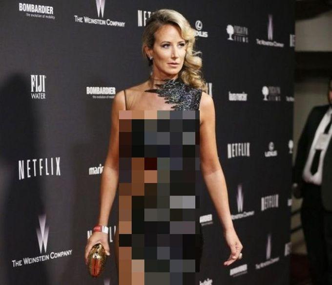Victoria Hervey's Golden Globes 2014 Dress (4 pics)
