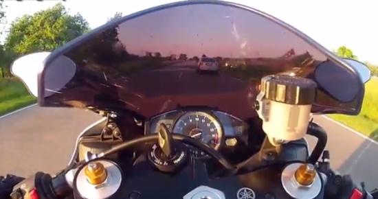 Motorcyclist Close Call