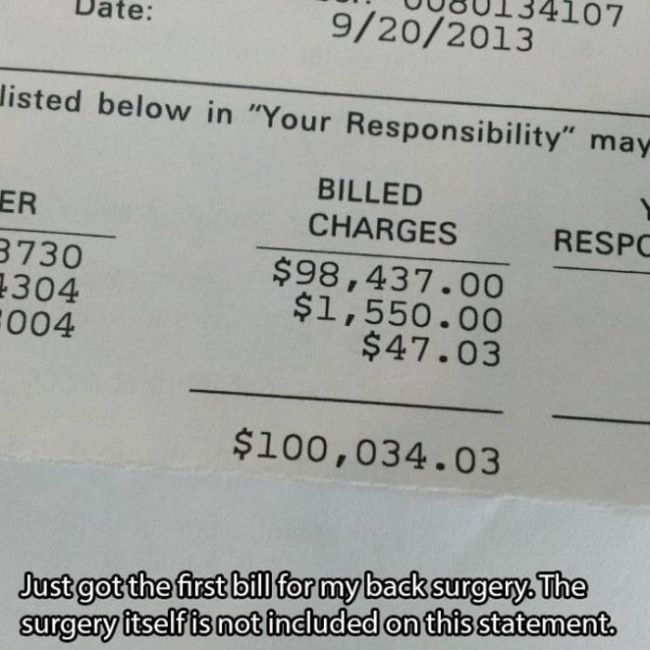 US Medical Bills (15 pics)