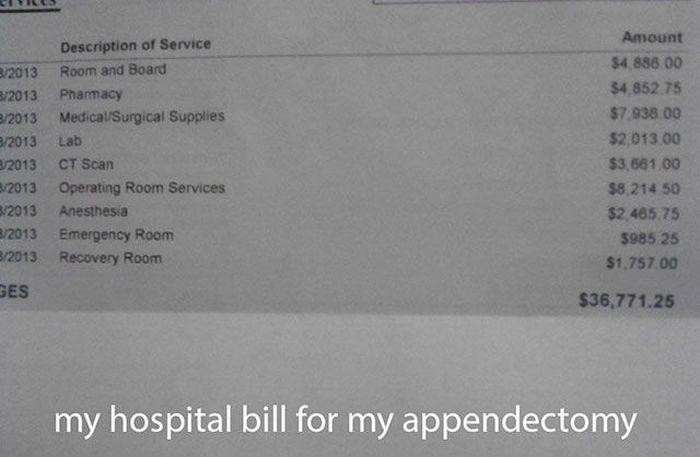 US Medical Bills (15 pics)