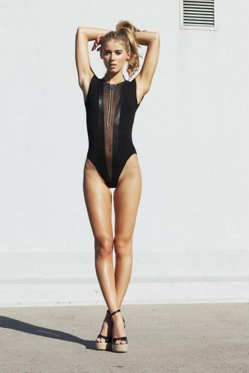 Gloria V Body Suit from American Apparel (38 pics)