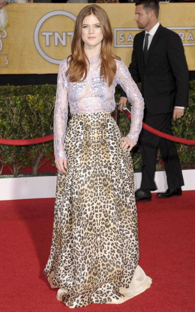 Rose Leslie in a See-Thru Dress (6 pics)