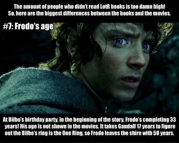 LotR. The Differences Between the Books and the Movies (7 pics)
