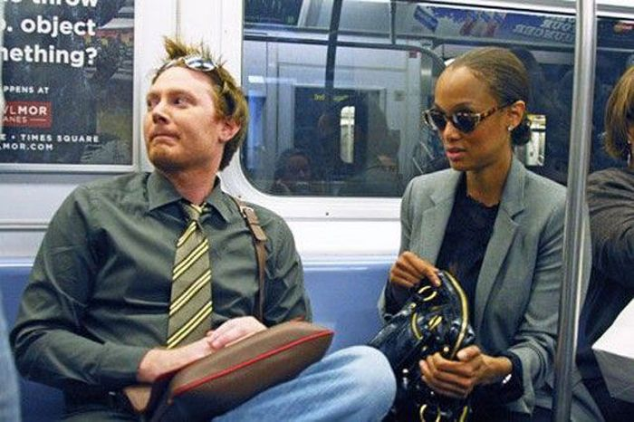 Celebrities on the Subway (35 pics)