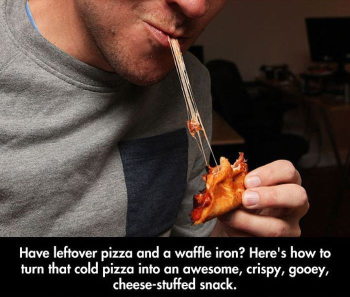 Great Snack Made Out of Leftover Pizza (10 pics)