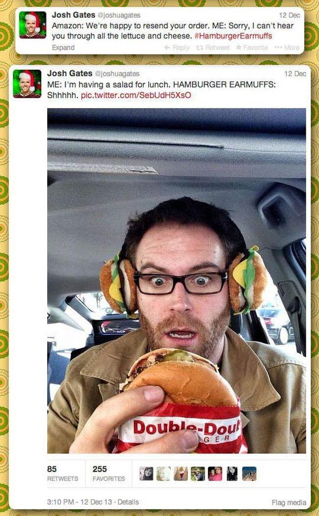 Hamburger Earmuffs (8 pics)