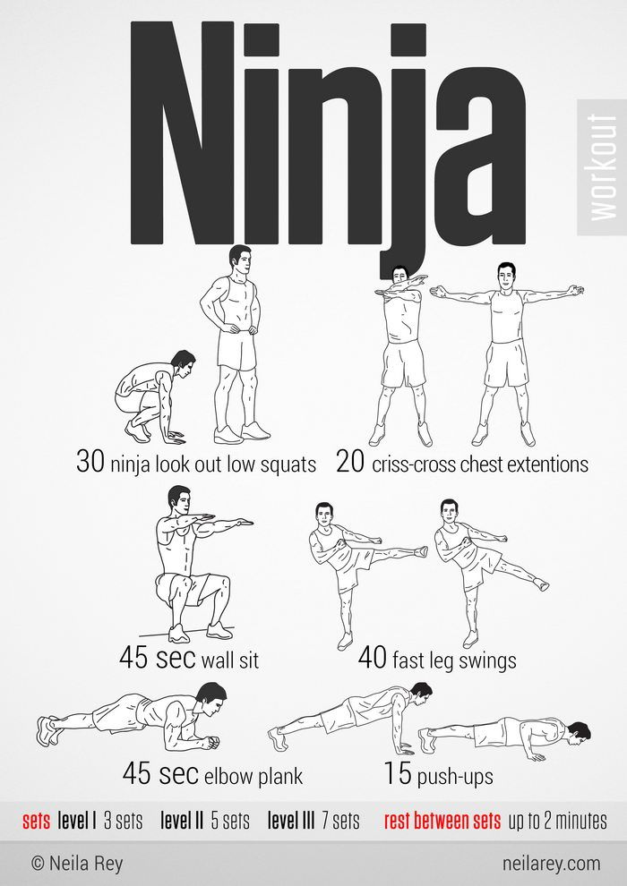 100 Workouts That Don't Require Equipment (46 pics)