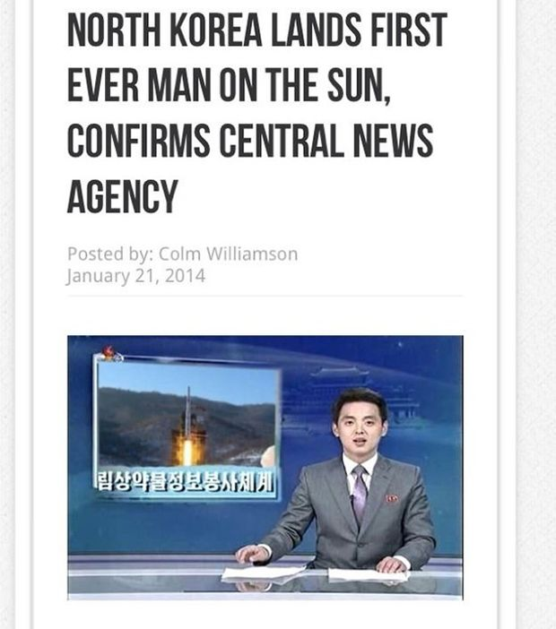 North Korea Claims to Have Landed on the Sun (5 pics)