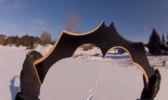 The Giant Batman's Boomerang in Action