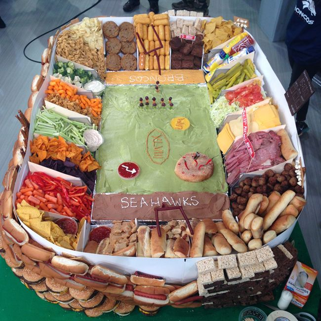 How To Build A Super Bowl Snack Stadium (15 pics)
