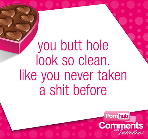 Valentine's Day Cards Made out of PornHub Comments (25 pics)