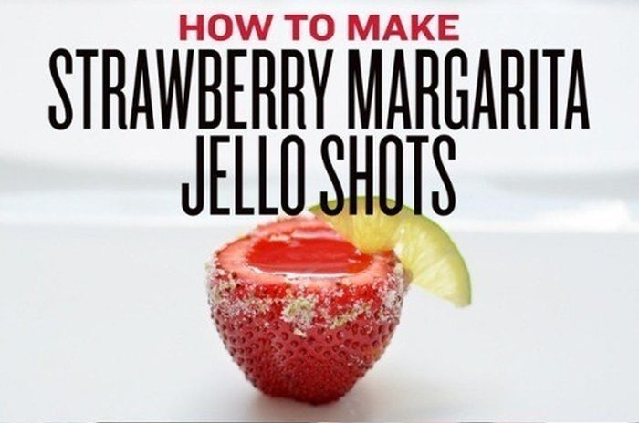 Strawberry Margarita Jello Shots (6 pics)