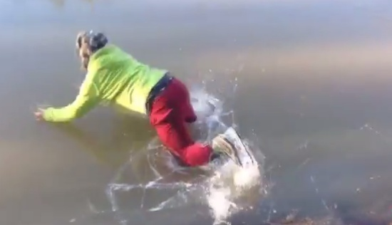 Running on Ice Gone Wrong Compilation