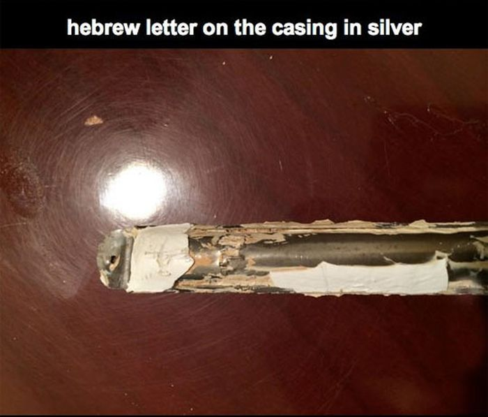 Discovered Letters in Silver Cases Encrusted in The Door (12 pics)
