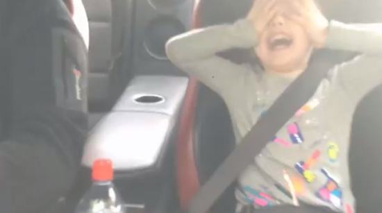 Girl's Emotions During Nissan GT-R Acceleration