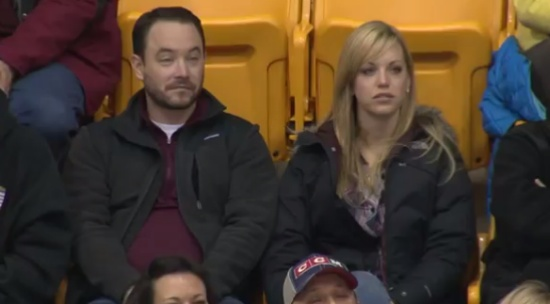 Epic Reaction on the Kiss Cam